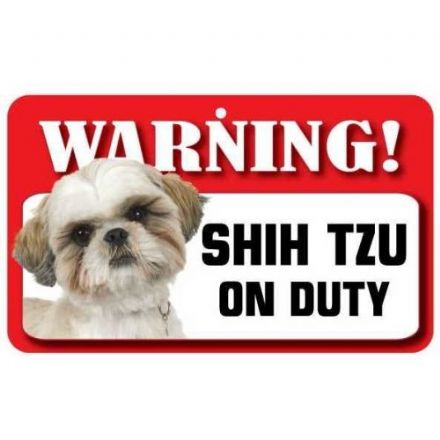 Shih Tzu Dog Pet Sign